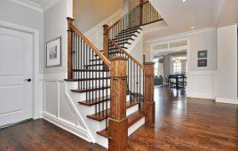 Kích thước trụ cầu thang gỗ tiêu chuẩn hiện nay