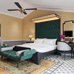 Bộ nội thất phòng áp mái khách sạn Athena Hotel & Spa 4 sao