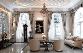 Top 10 mẫu phòng khách tân cổ điển được ưa chuộng nhất hiện nay