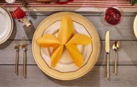 Cách gấp khăn ăn hình sao biển chuẩn nhà hàng hải sản