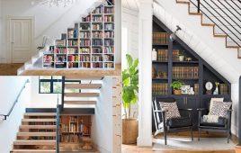 Tận dụng gầm cầu thang làm tủ – giải pháp thông minh