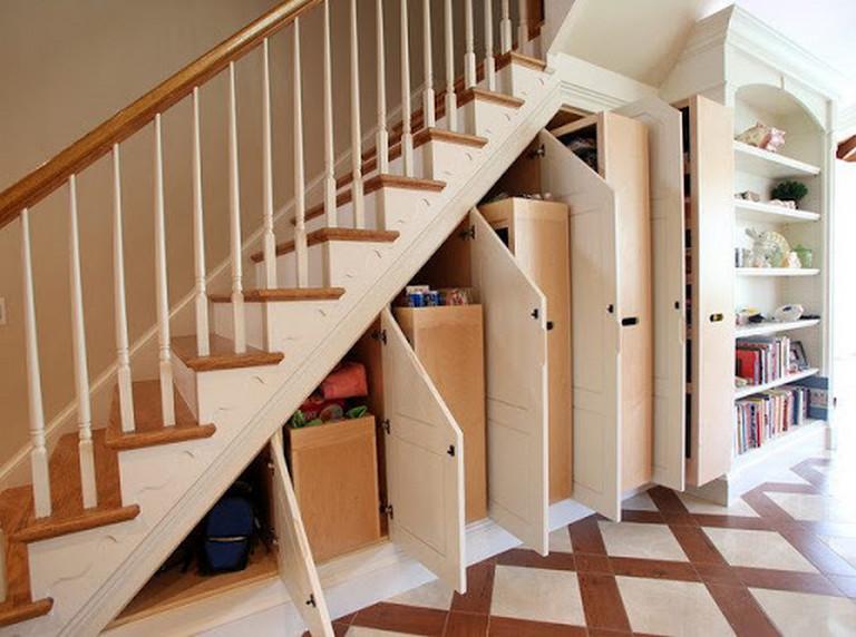 Mẫu tủ gầm cầu thang