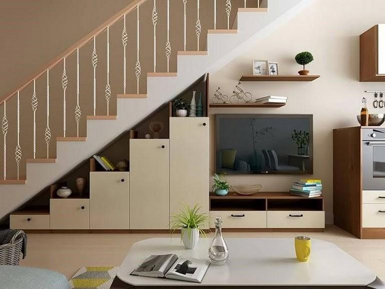 tủ gỗ gầm cầu thang đẹp