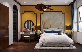 Ý tưởng thiết kế nội thất phòng ngủ biệt thự ấn tượng