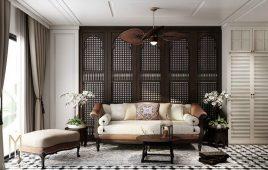 Vì sao nên chọn gỗ làm đồ nội thất phong cách Indochine